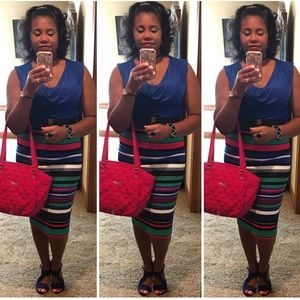 Colorful stripe skirt